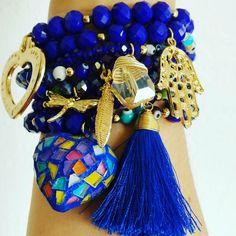Jewelry - Semanarios 100% handmade Gemstone Bracelets, Handmade Bracelets, Jewelry Bracelets, Handmade Jewelry, Tassel Jewelry, Beaded Jewelry, Jewelery, Kids Bracelets, Bracelet Display