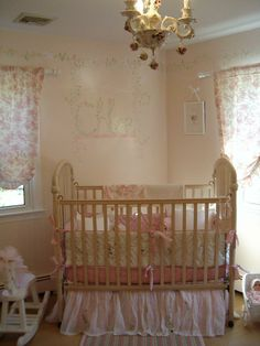 french country style girl's nursery