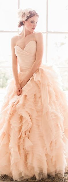 Sareh Nouri Blush Wedding Dress