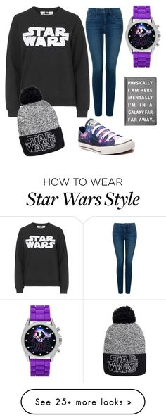 """""""Star Wars"""" by sydneystar6 on Polyvore featuring Tee and Cake, Converse, NYDJ and Forever 21"""