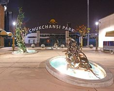 The Three Fires: Spreading - Leaping - Smoldering Sculptures by Claire Falkenstein are nestled right in front of the #ChukchansiPark entrance. How do you get lost in a Fresno moment? Share your #LostInFresno moments for a chance to be featured.  Pho
