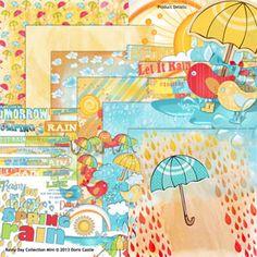 Rainy Day Collection Mini by Doris Castle @ Scrap Girls #digital #scrapbooking