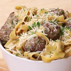 One-pot Swedish Meatball Pasta Recipe by Tasty