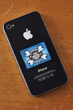 Evil Monkey - Family Guy Edition - Sticky Cellphone Screen Cleaner by Tech Tats.    Tech Tats Screen Cleaners are reusable screen cleaners that stick to the back of you phone and are always ready to wipe away fingerprints and smudges!