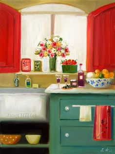 A Vintage Touch: A Collection of Original Janet Hill Paintings..