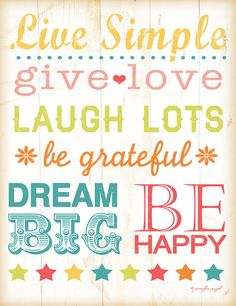 Live Simple Inspirational Wall Sign