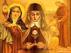 Santa Chiara d'Assisi – filia ecclesiae Francis Of Assisi, St Francis, Catholic Saints, Roman Catholic, Feast Of Corpus Christi, Clare Of Assisi, Doubting Thomas, St Claire, Santa Teresa