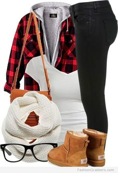 | Casual and hipster outfit for school with UGGs |
