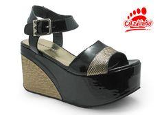 GREEN&BLACK-SANDALIA PLATAFORMA DETALLE REPTIL-9290183600