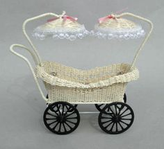 Wicker Baby Carriage for Twins | eBay