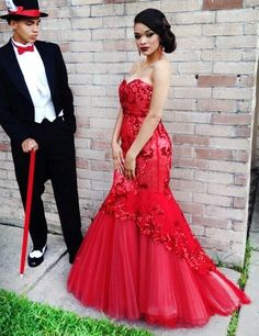 Red Gorgeous Prom Dress,Mermaid Prom Dress,Fashion Prom Dress,Sexy