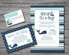 couples baby shower invitations for boys nautical