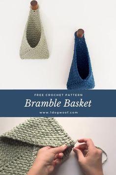 Crochet Basket Pattern, Beginner Crochet Pattern Free, Free Crochet Patterns For Beginners, Crochet Accessories Free Pattern, Diy Crochet Basket, Crochet Basket Tutorial, Free Crochet Bag, Crochet Stitches Free, Crochet Slipper Pattern