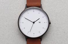 Minimalistische Armbanduhr: INSTRMNT 01 Minimalist Design, Dezeen Watch Store, Trendy Watches, Modern Watches, Elegant Watches, Uniform Wares, Wrist Watches, Analog Watches, Mens Designer Watches