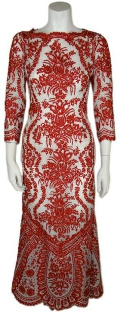 #Oscar de la Renta, 1980s  red #2dayslook #new red #redfashion  www.2dayslook.com