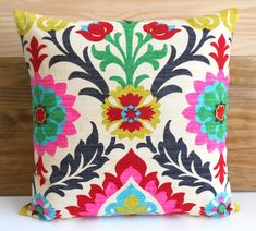 Turn it over- just as cute | Decorative pillow cover Multicolor chevron by pillowflightpdx