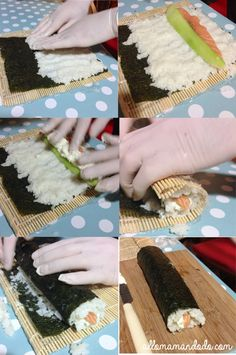 sushis makis recette DIY My Sushi, Sushi Time, Sushi Recipes, Cooking Recipes, Healthy Recipes, Healthy Food, Bento And Co, Cuisine Diverse, Pause