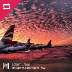 Check out this gorgeous #redskyatnight pic taken by @adam_faal at #Gatwick.