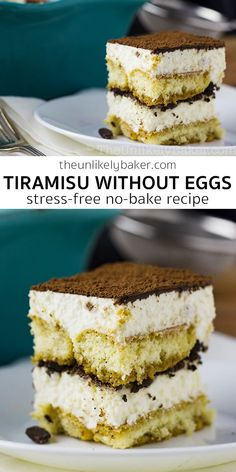 Eggless tiramisu is creamy, chocolatey, slightly boozy and a hit at every party. It's also so easy to make, watch the video to see how easy! Eggless Tiramisu Recipe, Eggless Desserts, Eggless Recipes, Eggless Baking, Easy No Bake Desserts, Best Dessert Recipes, Easy Desserts, Baking Recipes, Delicious Desserts