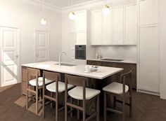 Minimal Kitchen Design, Application Writing, Bespoke Kitchens, Color Swatches, 3d Design, Design Process, New Kitchen, Countertops, Layout