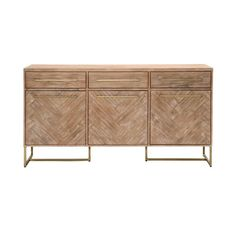 Shop AllModern for stylish sideboards and buffets. Store your extra table linens, dinnerware, and flatware in a modern kitchen buffet and expand your storage options! Side Board, Wood Sample, Parquetry, Sideboard Buffet, Dining Buffet, Console Table, D 20, Acacia Wood, Dining Room Furniture