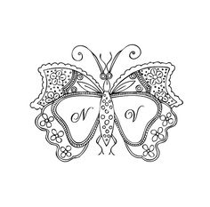 butterfly monogram | Flickr - Photo Sharing!