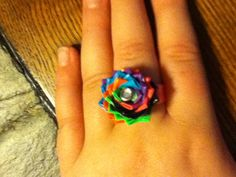 Ductape flower ring
