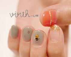 こんにちは virth+LIM... New Year's Eve Hair, Nail Art Techniques, Girls Nails, Pretty Nails, Nailart, Manicure, Lim Lim, Stud Earrings, Nail Stuff