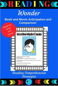 Wonder is a must read for fifth graders. Students need to learn empathy and inclusiveness. students evaluate their daily behavior and encourage them to reach high. In this comprehensive packet, students will use their reading comprehension strategies, while critically thinking about events, characters, and their reactions to the story.|Reading Strategies|Reading Activities|Wonder the Movie|#WonderTheMovie #Reading