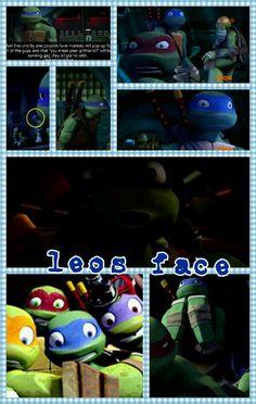 Leo makes the most adorable faces OwO Tmnt Leo, Leonardo Tmnt, Tmnt 2012, Wtf Face, Geek Girls, Teenage Mutant Ninja Turtles, My Childhood, My Hero, Fangirl