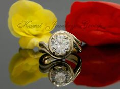 8.5mm Forever One Moissanite Engagement Ring by KaratJewelryGroup
