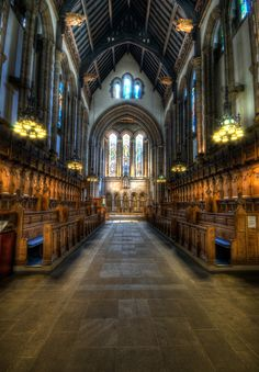 The interior of the chapel at the University of Glasgow in Scotland. - Dave Wilson