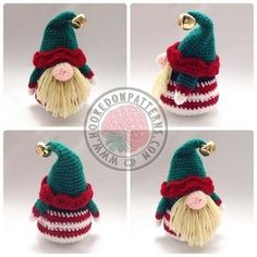 "Elf Gonk - IMPORTANT: You'll still need to purchase the original Santa Gonk pattern to follow these free add on accessories (see my folder ""Crochet Patterns to Buy"" for the Santa pin)"