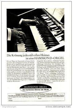 Original-Werbung/Inserat/ Anzeige 1965 - 1/1-SEITE : HAMMOND ORGEL  - ca. 170 x 250 mm