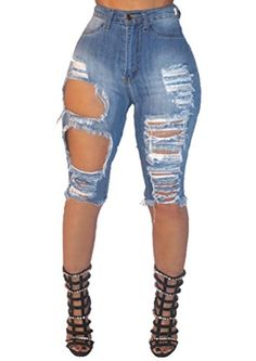 552bc5c1f7 Shop Jeans Fashion Women Raw Cut Holey Short Denim Jeans outfits casual and  jeans and roshes outfit outfit jeans and jeans