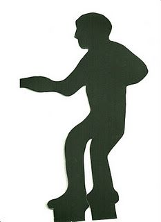 Dancing Man template available at http://whiskeytangohello.blogspot.com/2012/01/sock-hop-party-ideas.html.  For 50's Sock Hop decorations.