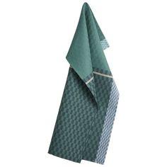 COLOURS tea towels Colour Petrol Green