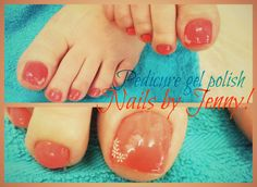 Pedicure with polish gel and stickers!