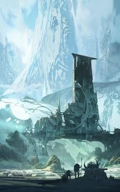Landscape Concept Art by Thom Tenery | Cuded via PinCG.com