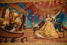 Beauty and the Beast Magic Kingdom Be Our Guest Restaurant Walt Disney, Disney Films, Disney Cartoons, Disney Love, Disney Magic, Disney Art, Disney Characters, Disney Princesses And Princes, Tale As Old As Time