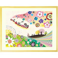 Kawaii ART for a Happy Life - Framed Art 'A Gift for Tomorrow' Japanese Painting for Living Room - Artwork Gift (20.6x16.1inch) *** Find out more about the great product at the image link. (This is an affiliate link) #ModernHomeDecor
