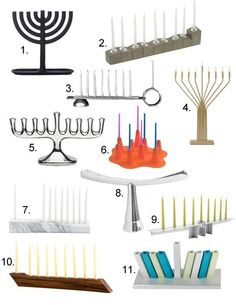 11 ideas for a more modern Menorah! Wedding Gift Inspiration, Hanukkah Menorah, Concrete Design, Make A Gift, Inspiration Boards, Inspirational Gifts, Winter Holidays, Candlesticks, Contemporary Design