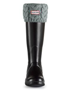 Cable Knit Welly Socks | Rain Boot Socks | Hunter Boot Ltd
