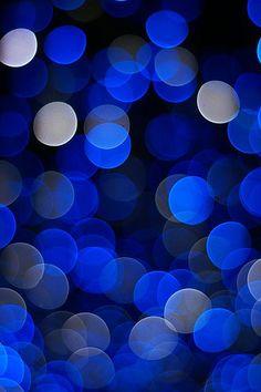 Bokeh blue