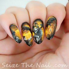 Hail to the King nail art!