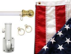 6 Ft Spinning Tangle Free Pole Bracket Huge Sale Dollars 3 x 5 FT Flag Set