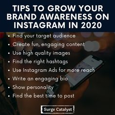 Today I'm going to share some tips that will help you to grow your brand awareness on Instagram in 2020 🚀 Note: No matter where you are in your business, make sure your strategy is carefully charted out! . . . #facebook #facebookads #instagramads #digitalmarketing #digitalmarketingtips #success #digitalmarketingstrategy #socialmedia #sales #onlinebusiness #marketingonline #content #entrepreneurlife #entrepreneur #startup #Stopsellingstarthelping #instagood #success #business #smallbusiness… Digital Marketing Strategy, Online Marketing, Best Time To Post, Target Audience, High Quality Images, Online Business, Seo, Entrepreneur, Finding Yourself