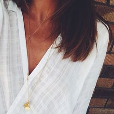 Today out and about in an old favourite // The Arrow Necklace online for $65