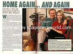 Sloan Carpenter   Interview with Roy Thinnes (Sloan Carpenter on One Life To Live)