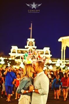 Kellie + JJ's Engagement Shoot in Walt Disney World's Magic Kingdom! Disney World Magic Kingdom, Walt Disney World, Disney Worlds, Disney Engagement Pictures, Early Spring Wedding, Concept Photography, Disney Love, Engagement Shoots, Happily Ever After